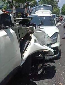 Kecelakaan maut di Jalan Ruko Grand Niaga Mas Batam Center, Minggu (18/04/2021)