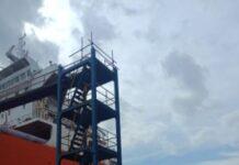 Lokasi jatuhya Kelvin (21) laka kerja di PT Marcopolo Shipyard Batam