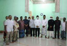Silaturahmi Ketua DPRD Batam Usai Tarawih di Masjid Nurul Huda Kavling Jujur Bengkong, Minggu (18/04/2021)