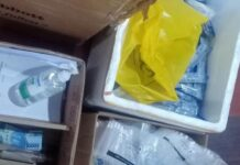 Penggerebekan lokasi swab test antigen dengan alat bekas di Bandara Kualanamu. (detik.com)