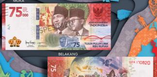 Uang Baru Rp 75.000 spesial HUT ke-75 Kemerdekaan RI(Bank Indonesia)
