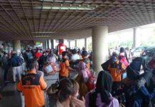 Terminal keberangkatan Bandara Hang Nadim Batam pada Rabu (5/5/2021) terpantau cukup padat dari hari biasanya