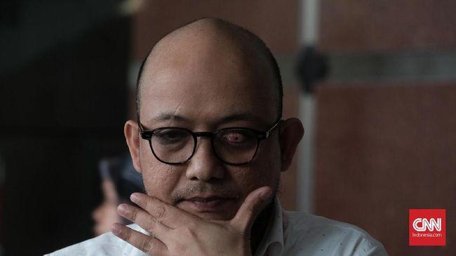 Penyidik KPK Novel Baswedan dinonaktifkan sementara usai dinyatakan tidak lolos tes wawasan kebangsaan untuk menjadi ASN (CNN Indonesia/Andry Novelino)
