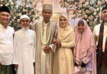 Ustaz Abdul Somad (UAS) atau Ustaz Somad resmi menikah dengan Fatimah Az Zahra Salim Barabud, gadis asal Jombang, Jawa Timur, Rabu (28/4/2021). [Instagram]