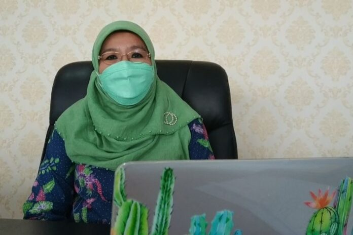 Direktur Pencegahan dan Pengendalian Penyakit Menular Langsung Kementerian Kesehatan (Kemenkes) Siti Nadia Tarmizi saat dijumpai di Kantornya, Selasa (20/4/2021). (KOMPAS.com)