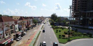 Foto Jalan dari bundaran madani menuju ocarina