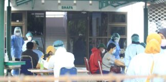 Foto penanganan covid-19 di sarama haji batam