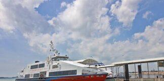 Foto ilustrasi kapal di Pelabuhan Ferry Harbour Bay Terminal Batam