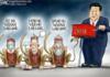 Hewan Peliharaan Xi. China dianggap menyembunyikan informasi tentang asal-usul virus corona penyebab Covid-19.(Kartun dari Fox News)