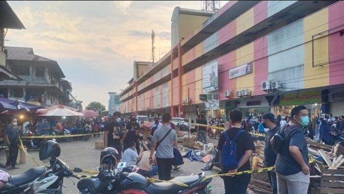 Kasus pembunuhan di Pasar Samarinda Jodoh, Minggu (9/5/2021)