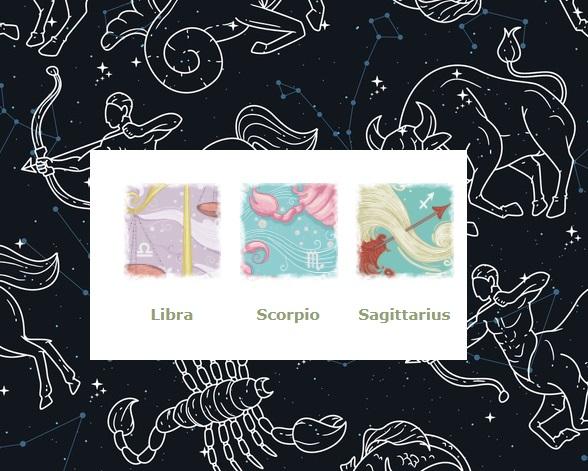 Zodiak Libra Scorpio Sagitarius