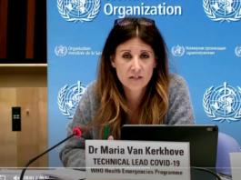 Tangkapan layar video saat Maria Van Kerkhove, kepala teknis WHO memberikan pejelasan tentang COVID-19. (Sumber: Reuters)