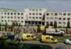 Sebuah pemandangan menunjukkan Sekolah Nomor 175 setelah pengambilan gambar baru-baru ini di Kazan, Rusia 11 Mei 2021. REUTERS / Alexey Nasyrov