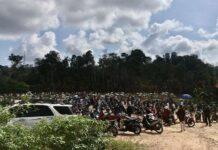 Ribauan warga Batam terlihat memadati TPU Sei Temiang