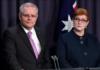 Perdana Menteri Australia Scott Morrison bersama Menteri Luar Negeri dan Menteri Wanita Marise Payne. (Foto: AAP)