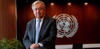 Sekretaris Jenderal Perserikatan Bangsa-Bangsa Antonio Guterres berfoto saat wawancara dengan Reuters di markas besar PBB di New York City, New York, AS, 14 September 2020. REUTERS / Mike Segar / File Photo