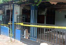 Foto rumah yang terbakar di Baloi Ditpam