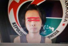 Foto berinisial BSU alias Apek ditangkap polisi