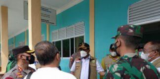 Bupati Karimun Aunur Rafiq bersama FKPD meninjau gedung SMAN 4 Binaan untuk dijadikan lokasi karantina baru pasien covid-19 . sabtu (29/5/201)Foto suryakepri.com/YAHYA