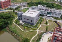 Laboratorium Institut Virologi Wuhan, China, yang diyakini sebagai sumber virus corona penyebab pandemi Covid-19.