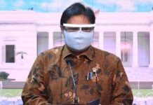 Ketua Komite Penanganan Covid-19 dan Pemulihan Ekonomi Nasional (KPC-PEN) Airlangga Hartarto. (Foto: Lukas - Biro Setpres