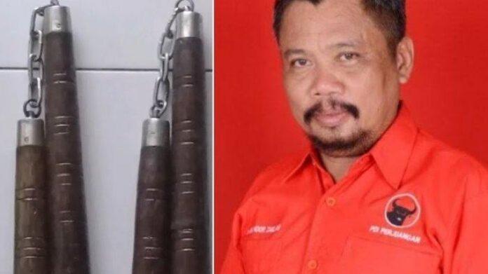 Anggota dewan Kabupaten Takalar, Sulawesi Selatan, Andi Noor Zaelan alias Andi Elang dan double stick . foto: tribuntimur
