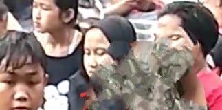 foto tangkapan video viral sepasang muda-mudi melakukan tindak asusila di Pemandian, Cikoromoy, Pandeglang, Banten.