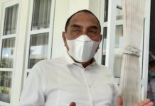 Gubsu Edy Rahmayadi di Medan (detikcom)