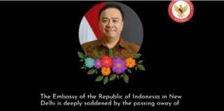 Wakil Duta RI untuk India, Ferdy Nico Yohannes Piay meninggal dunia terpapar covid-19/ twitter IndonesianEmbassy ND