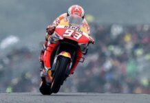 Marc Marquez kesulitan bersaing di posisi terdepan. (motogp.com)