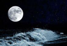 Foto Ilustrasi bulan dan gelombang laut. (Foto: Bentham Open)