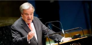 Sekretaris Jenderal Perserikatan Bangsa-Bangsa (PBB) Antonio Guterres pada hari Kamis mendesak Hamas dan kelompok bersenjata lainnya untuk menghentikan peluncuran roket tanpa pandang bulu ke Israel dan meminta Israel untuk mematuhi undang-undang yang mengatur konflik bersenjata, termasuk penggunaan kekuatan yang proporsional [File: Carlo Allegri / Reuters via Al Jazeera]