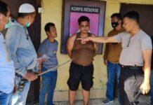 Pelaku pembacokan di Belawan terhadap rekan sendiri, ditahan polisi.