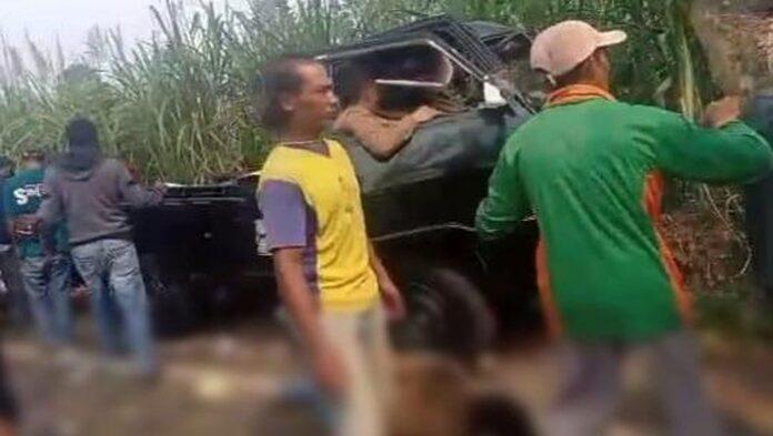 Pikup tabrak pohon tewaskan 7 orang/Foto: Istimewa (Dok Polres Malang)