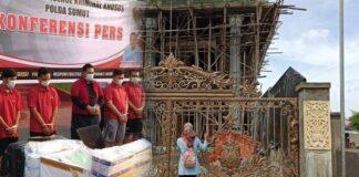 Foto pembangunan rumah baru Business Manager Laboratorium Kimia Farma untuk wilayah Medan, Picandi (PM) Mosko di Jl Merbau Griya Pasar Ikan Kelurahan Simpang Periuk, Kecamatan Lubuklinggau Selatan II, Kota Lubuklinggau, Sumatera Selatan, Jumat (30/4/2021). Kini pembangunannya dihentikan karena PCM ditangkap Polda Sumut. (Tribunsumsel.com/Eko Hepronis)
