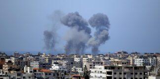 Serangan udara Israel di jalur Gaza/ cnbcindonesia.com