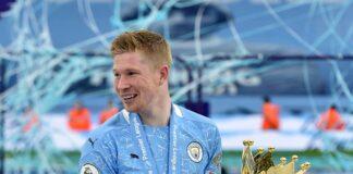 Kevin De Bruyne membantu Manchester City meraih gelar Liga Premier (Peter Rowell/PA)