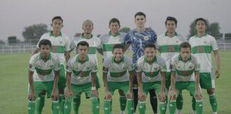 Para pemain Timnas Indonesia yang menjadi starter pada laga persahabatan kontra Oman, Sabtu (29/5/2021).(PSSI)