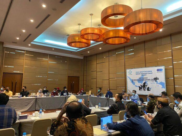 Focus Group Discussion (FGD) yang dilakukan oleh Dewan Pers dan Sucofindo di Jakarta Selasa (8/6).