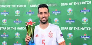Sergio Busquets menjadi Star of the Match dalam laga 16 Besar EURO 2020 melawan Kroasia yang dimenangkan Spanyol dengan skor 5-3. (Foto: Uefa.com)