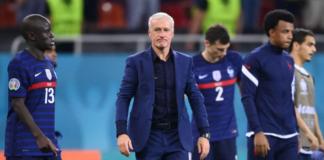 Pelatih Prancis Didier Deschamps setelah timnya ditaklukkan oleh Swiss melalui adu penalti di Babak 16 Besar EURO 2020. (Foto: UEFA.com)