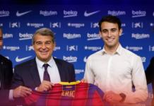 Bek Manchester City Eric Garcia telah resmi berseragam Barcelona, menyusul Sergio Aguero.(Foto: barcelonafc.com)