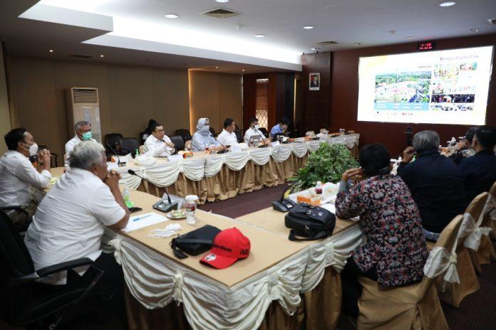 Kunjungan kerja Pansus KBN DPRD Provinsi DKI Jakarta di Ruang Presentasi Marketing Centre BP Batam, Kamis (24/6/2021).