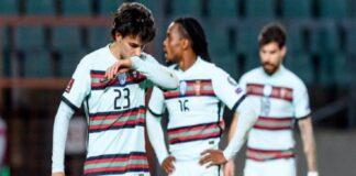 Joao Felix (depan) dikecam Roy Keane sebagai penipu karena membuang-buang peluang dalam kekalahan Portugal dari Belgia di Babak 16 Besar Euro 2020. (Foto dari Twitter)