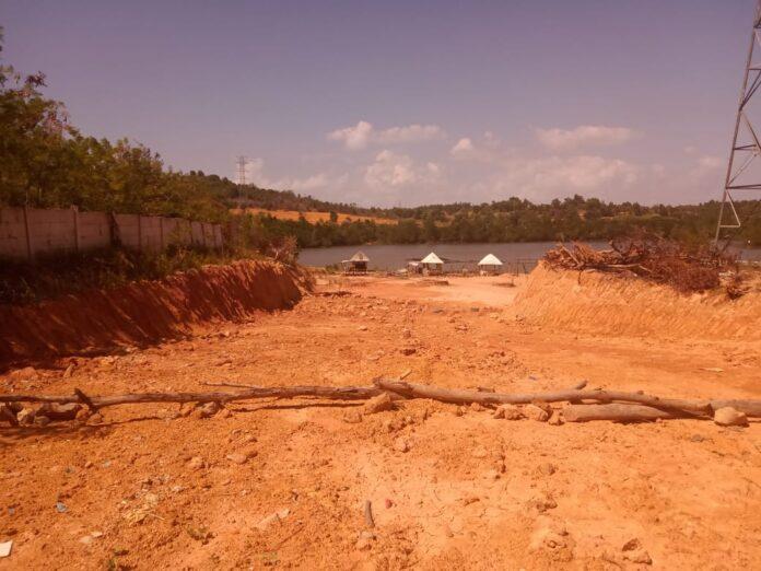 Lokasi Lahan yang akan dijadikan jembatan bandara Nongsa yang diharapkan bisa memperpendek jarak Batam Center-Nongsa.