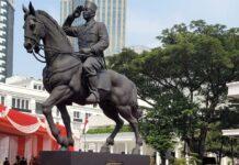 Peresmian Patung Bung Karno Naik Kuda, Jakarta, Minggu (06/06/2021)