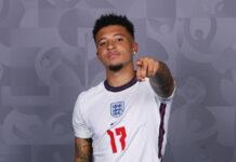 Jadon Sancho dalam balutan seragam tim nasional Inggris. Dia adalah salah satu yang dipanggil Gareth Southgate untuk EURO 2020. (talkSPORT)