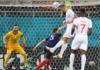 Haris Seferovi melompat tinggi menanduk bola umpan Steven Zuber untuk membawa Swiss memimpin 1-0 atas Prancis di babak pertama 16 Besar EURO 2020 di Stadion Arena Nationala, Bucharest, Romania, Senin (28/6/2021) atau Selasa dinihari waktu Indonesia. (UEFA.com)