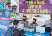 Polres dan Samsat Karimun saat membuka layanan Sampul di Pulau Kundur belum lama ini. Foto Suryakepri.com/HUMAS POLRES KARIMUN