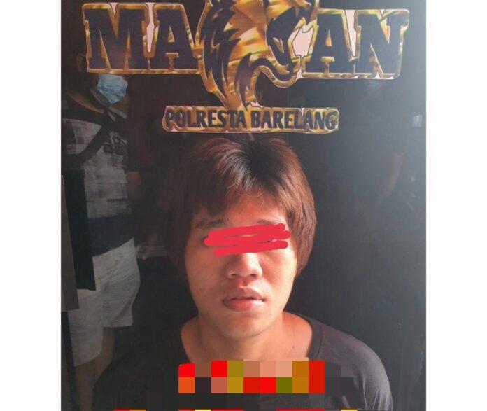 Foto pelaku Samsul Arifin (28), diamankan di Polresta Barelang